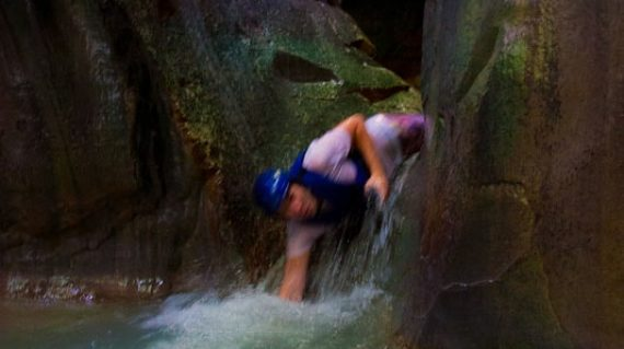 Be creative and enjoy your slides in Damajagua Waterfalls