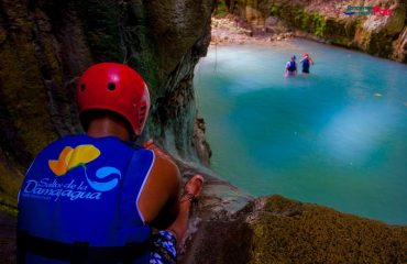 Jump from waterfall no. 1 in Damajagua Waterfalls Private Tour