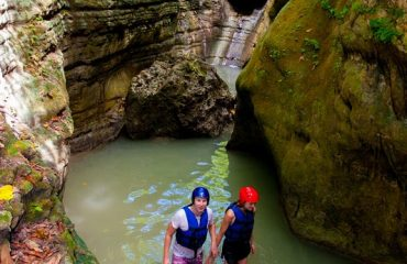 Pure adventure in the jungle of 27 Charcos in Puerto Plata